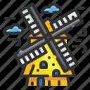 alblasserdam, architectonic, kinderdijk, landmark, monuments, netherlands, windmills
