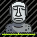 chile, easter, island, landmark, moai, monuments, place