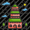 architectonic, asia, building, china, landmark, monuments, pagoda