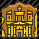 architecture, building, gate, jordan, landmark, petra, rome