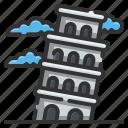architectonic, buliding, europe, italy, landmark, pisa, tower