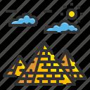 africa, architectonic, egypt, giza, landmark, monument, pyramids