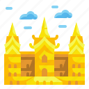 bangkok, building, grand, landmark, monuments, palace, thailand