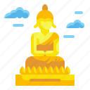asia, buddha, great, landmark, monuments, statue, thailand