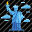 america, architectonic, landmark, liberty, monument, new, york