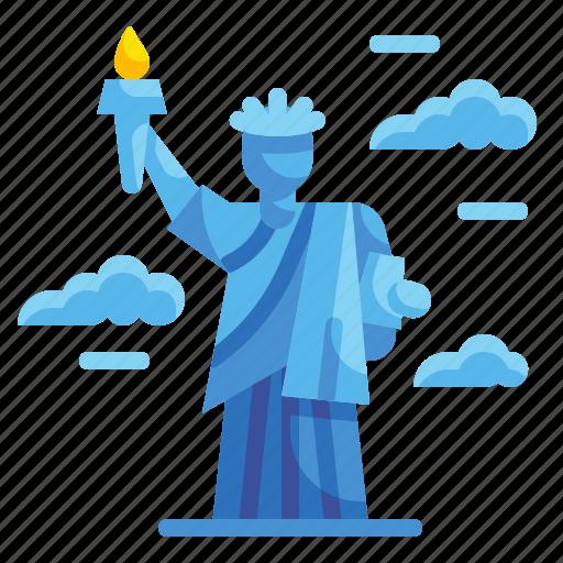 America, architectonic, landmark, liberty, monument, new, york icon - Download on Iconfinder