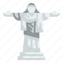 architectonic, brazil, christ, landmark, redeemer, rio, statue