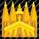 barcelona, buildings, catholic, christian, familia, sagrada, spain