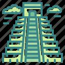 architectonic, building, chichen, itza, landmark, mexico, yucatan