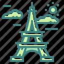 architectonic, eiffel, europe, france, landmark, paris, tower