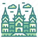 bangkok, building, grand, landmark, monuments, palace, thailand icon