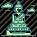 asia, buddha, great, landmark, monuments, statue, thailand icon