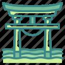 architectonic, asia, gate, japan, landmark, shinto, torii