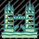 architecture, bridge, building, landmark, london, monument, tower