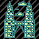 architectonic, landmark, malaysia, monuments, petronas, tower, twin
