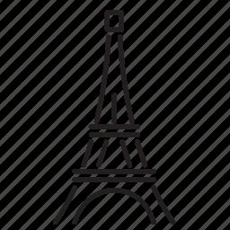 city, eiffel tower, france, landmark, paris, tourism, tower icon