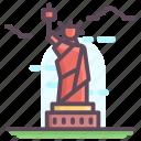 american monument, architecture, manhattan landmark, monument, new york, statue of liberty icon