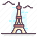 eiffel tower, france landmark, france monument, france tower, tower landmark icon
