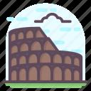 colosseum, italy landmark, roman amphitheatre, roman arena, wonder of world icon