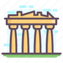acropolis athens, doric order, greece landmark, greek temple, parthenon athens icon