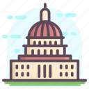 capitol building, congress house, government building, us capitol, washington landmark icon