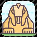 ancient egypt, ancient monument, egypt landmark, great sphinx, sphinx statue icon