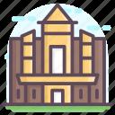 historic building, jordan landmark, jordan monument, petra building, petra monastery, petra raqmu icon