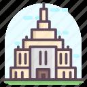 heritage building, historic building, landmark, mausoleum, monuments, temple building icon