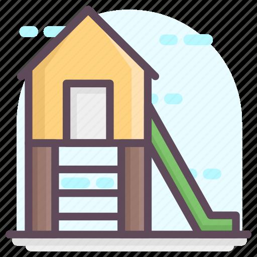 kindergarten, play area, playground, swing area, swing slide icon