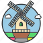 demark, ecology, grinder, holland, mill, netherlands, windmill icon