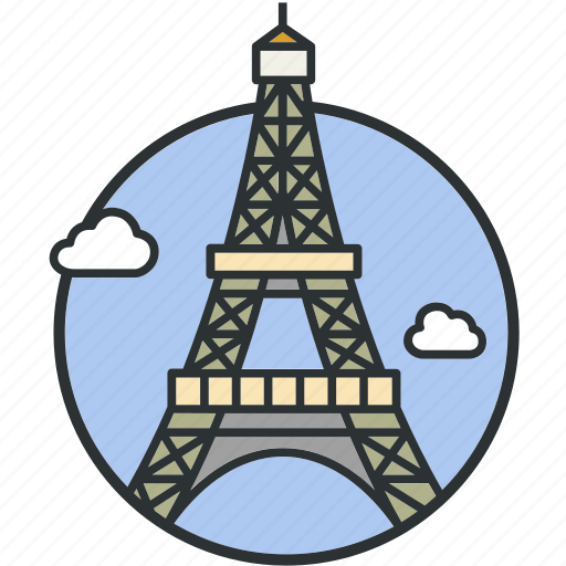 eiffel, france, landmark, paris, sight, tourism, tower icon