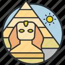 desert, egypt, giza, landmark, pyramid, sight, tourism