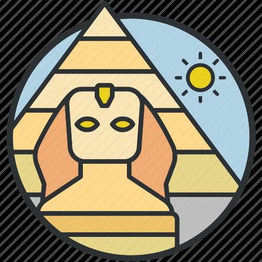 desert, egypt, giza, landmark, pyramid, sight, tourism icon