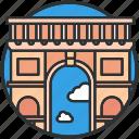 arch, france, landmark, paris, tourism, triumphal