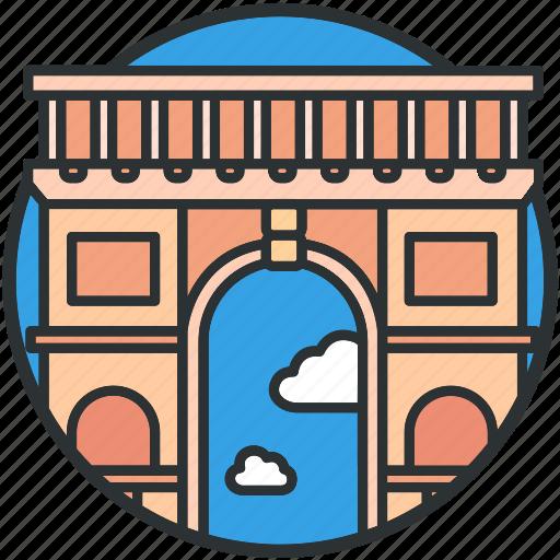 arch, france, landmark, paris, tourism, triumphal icon