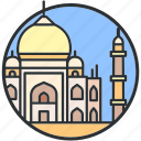 india, landmark, mahal, monument, taj, tourism, tradition icon