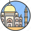 india, landmark, mahal, monument, taj, tourism, tradition icon