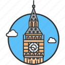 ben, big, clock, landmark, london, tower, watch icon