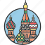 capital, dome, kremlin, landmark, moscow, russia, temple icon