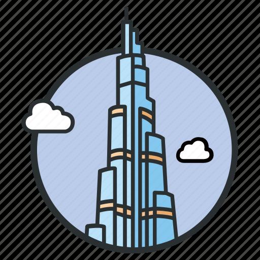 building, burj, dubai, khalifa, skyscraper, tallest, uae icon
