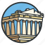 acropolis, akropolis, ancient, athens, citadel, greek, landmark icon