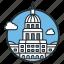 america, house, landmark, president, usa, washington, white icon