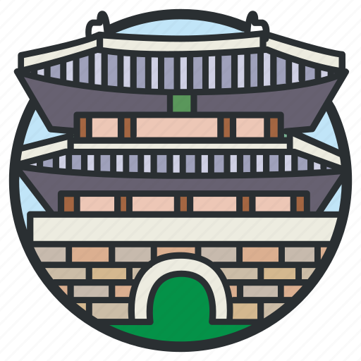 architecture, asian, dongdaemun, gate, landmark, seoul, sungnyemun icon