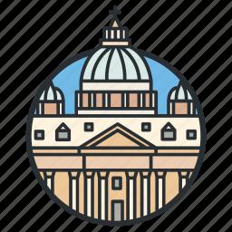 basilica, cathedral, catholic, church, landmark, peter, saint icon
