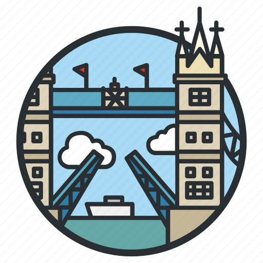 Bridge, landmark, london, thames, tower icon - Download on Iconfinder