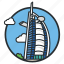 ai, arab, burj, dubai, hotel, luxury, uae icon