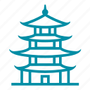 china, chinese, japan, pagoda, travel icon