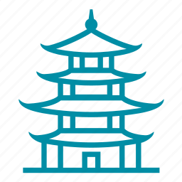 china, chinese, japan, pagoda, travel icon
