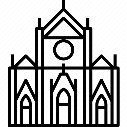 Florence, basilica, franciscan, santa croce icon - Download on Iconfinder