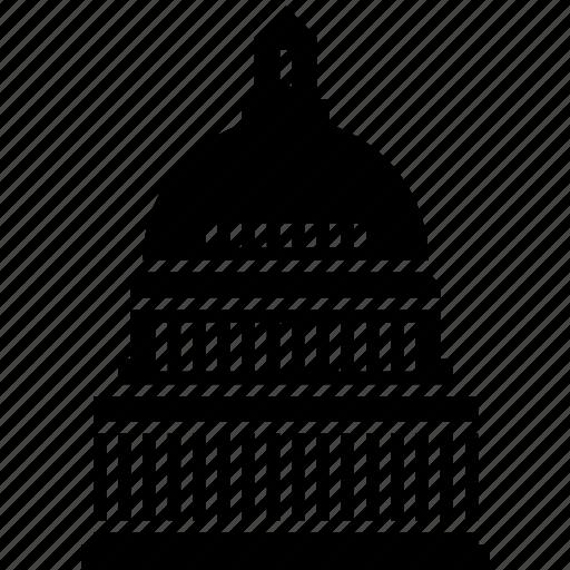 capitol, congress, government, politics, president, united states, washington dc icon